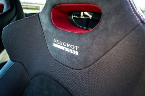 White Peugeot 208 GTI 30th Anniversary - Front Seat Detail - carwitter
