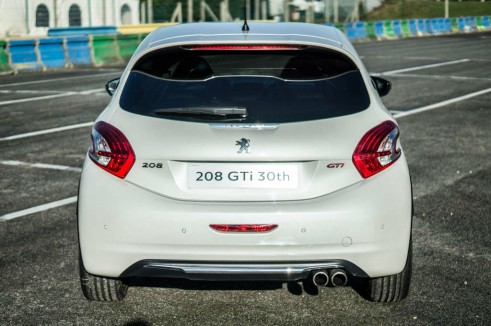 White Peugeot 208 GTI 30th Anniversary - Rear - carwitter