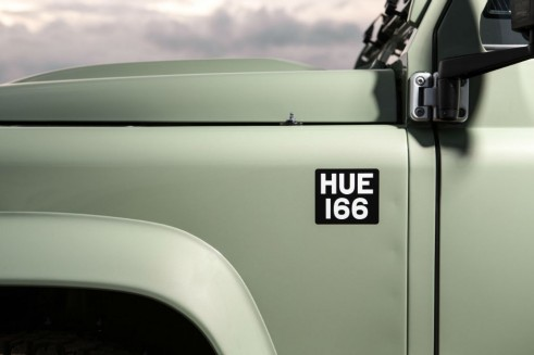 Land Rover Defender 2015 Heritage limited edition - HUE 166 Plate Decal - carwitter