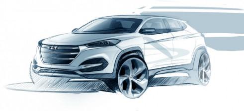 2015 Hyundai Tucson design sketch - carwitter