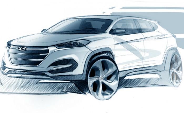 2015 Hyundai Tucson design sketch carwitter 700x432 - Hyundai tease new Tucson - Hyundai tease new Tucson