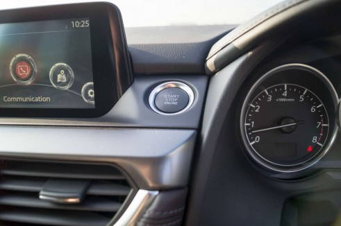 2015 Mazda 6 Review - Start Button - Carwitter