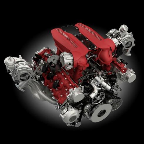 Ferrari 488 GTB engine carwitter 491x491 - Ferrari unveils turbocharged 488 GTB - Ferrari unveils turbocharged 488 GTB