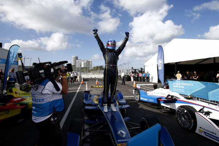 Formula E Miami Nico Prost Celebrating 700x467 - Formula E - Miami - Prost Gets His First Win - Formula E - Miami - Prost Gets His First Win