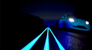 Glow In The Dark Nissan Leaf Smart Highway  300x162 - Nissan gives us a Tron like experience - Nissan gives us a Tron like experience