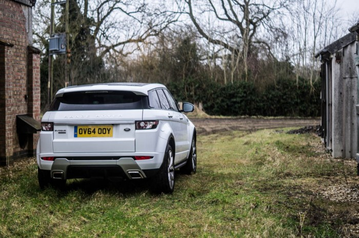 2015 Range Rover Evoque Autobiography 4WD Review - Rear Angle - Carwitter