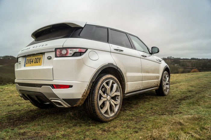 2015 Range Rover Evoque Autobiography 4WD Review - Rear Muddy - Carwitter