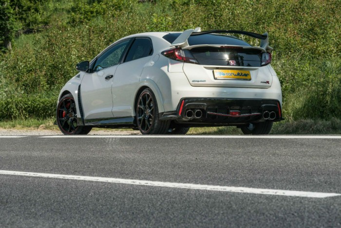 2015 Honda Civic Type R Rear Side Angle carwitter 700x468 - 2015 Honda Civic Type R  Review – VTEC, but not as we know it - 2015 Honda Civic Type R  Review – VTEC, but not as we know it