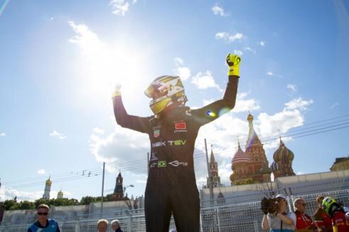 Formula E - Moscow - Piquet Jr Celebration