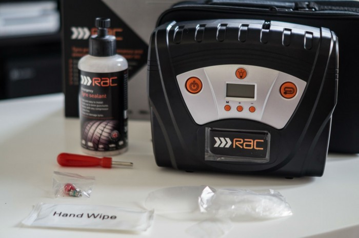 RAC Tyre maintenance and puncture repair kit Review - Kit Contents - carwitter