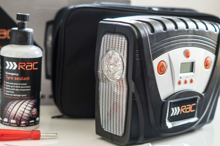 RAC Tyre maintenance and puncture repair kit Review - LED Light - carwitter
