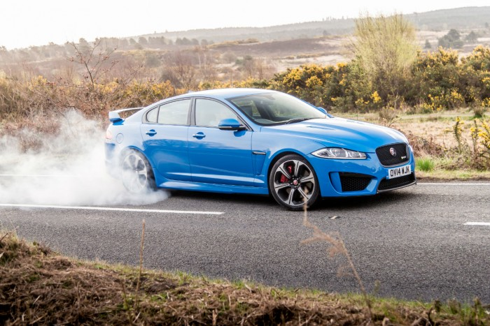 2014 Jaguar XFR-S Review - Burnout Front Angle - carwitter