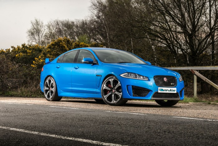 2014 Jaguar XFR-S Review - Front Angle Close - carwitter