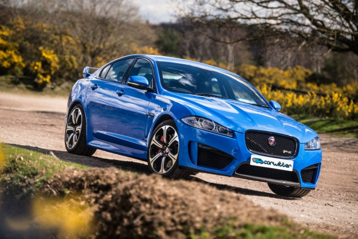 2014 Jaguar XFR-S Review - Front Angle Scene - carwitter