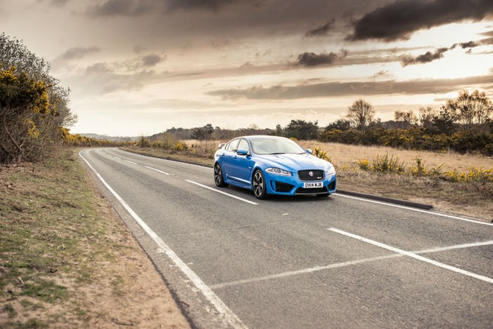 2014 Jaguar XFR-S Review - Front Angle - carwitter