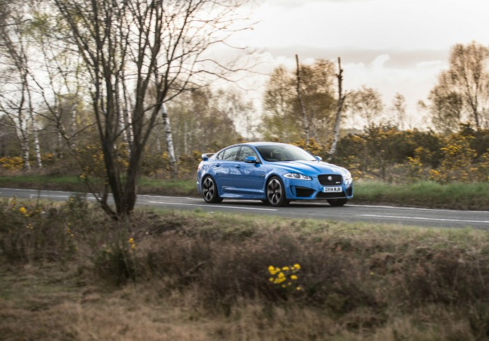 2014 Jaguar XFR-S Review - Side Scene Far - carwitter