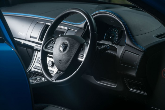 2014 Jaguar XFR-S Review - Steering Wheel - carwitter
