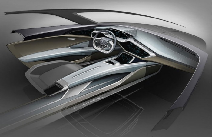 Audi E-Tron Concept Interior Sketch