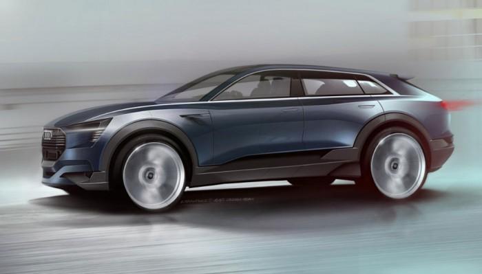 Audi E-Tron Concept Sketch