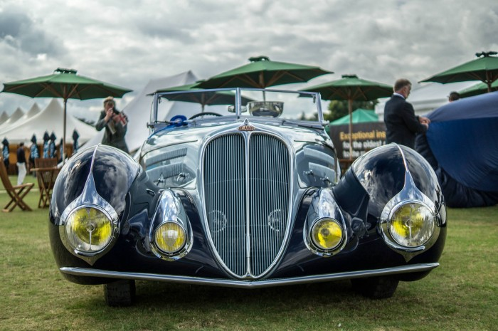 Salon Prive 2015 Review Delahaye Front carwitter 700x465 - Salon Privé 2015 - New location, better than ever - Salon Privé 2015 - New location, better than ever