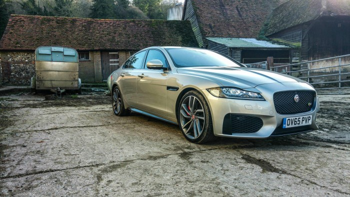 2016 Jaguar XF Review - Front Angle 2 - carwitter