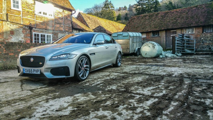 2016 Jaguar XF Review - Front Angle Scene - carwitter