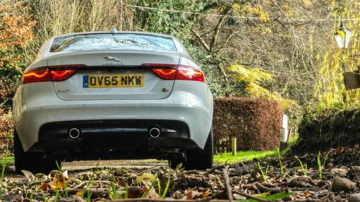 2016 Jaguar XF S Review - Rear Scene - carwitter