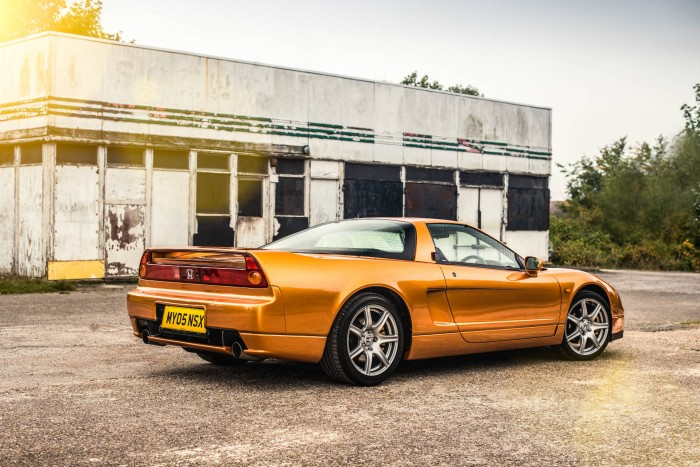 2005 Honda NSX - Imola Orange -Side Rear Angle - carwitter