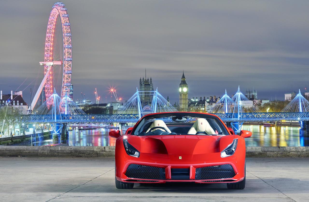 Ferrari 488 Spider London front carwitter 1280x840 - Ferrari 488 Spider Launched - Ferrari 488 Spider Launched