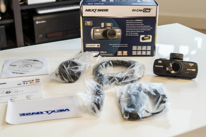 NextBase 512G Review Box Contents carwitter 700x465 - Nextbase Dash Cam 512G Review – The perfect dash cam - Nextbase Dash Cam 512G Review – The perfect dash cam