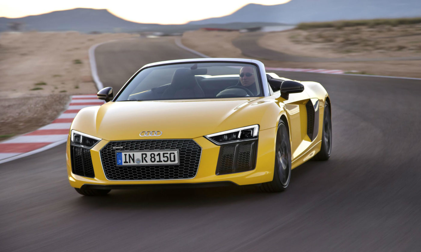 2016 Audi R8 Spyder Front Angle carwitter 1400x840 - Second gen Audi R8 Spyder unveiled - Second gen Audi R8 Spyder unveiled