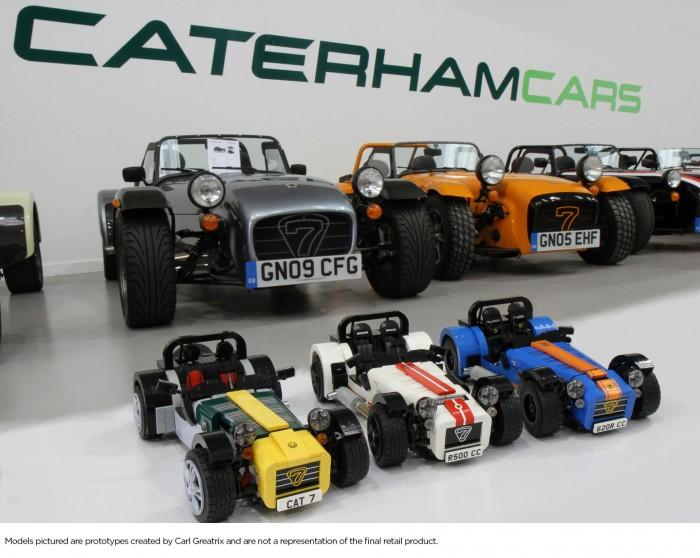 Caterham Seven 7 LEGO Model - Front Scene - carwitter