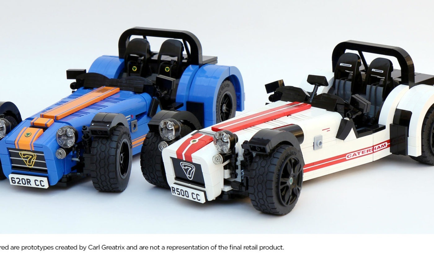 Caterham Seven 7 LEGO Model White Blue carwitter 1400x840 - The Caterham Seven just got cooler - A LEGO version is on the way! - The Caterham Seven just got cooler - A LEGO version is on the way!