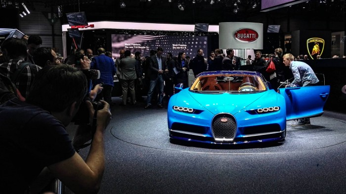 Geneva Motor Show 2016 Bugatti Chiron Front carwitter 700x393 - Geneva International Motor Show 2016 - A Round Up - Geneva International Motor Show 2016 - A Round Up