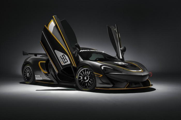 McLaren 570S GT4 - Front Angle Doors Up - carwitter