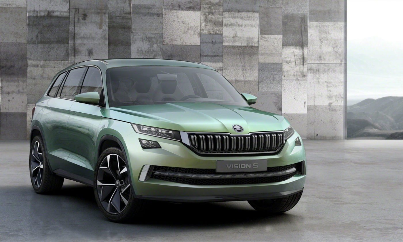 Skoda Vision S Front View carwitter 1400x840 - Skoda on track to launch first proper SUV - Skoda on track to launch first proper SUV