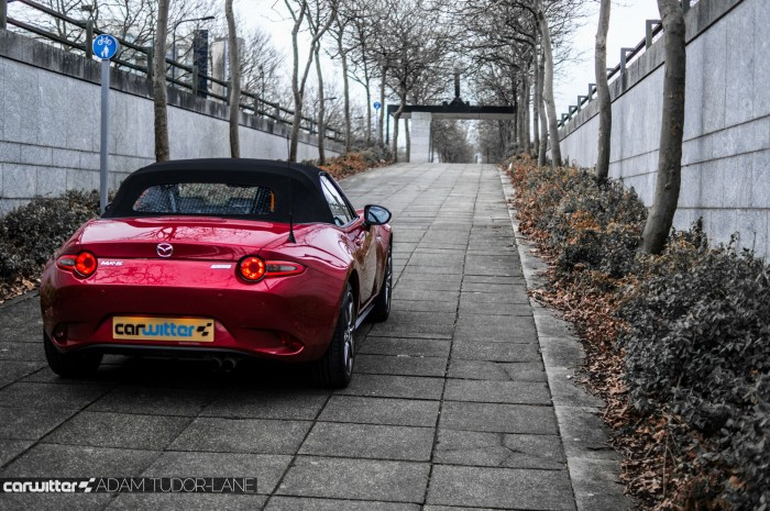 2016 Mazda MX5 160 PS Review Rear Scene Far carwitter 700x465 - 2016 Mazda MX-5 160PS Review - 2016 Mazda MX-5 160PS Review
