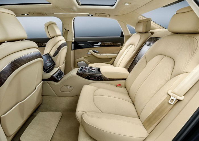 Audi A8 L extended - Interior Rear Seats - carwitter