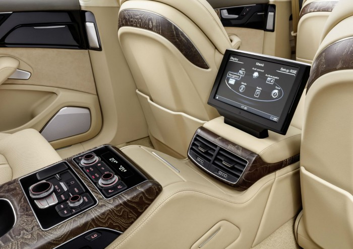 Audi A8 L extended - interior infotainment - carwitter