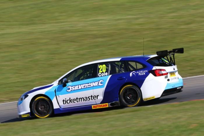 BTCC 16 Cole Subaru Brands Hatch