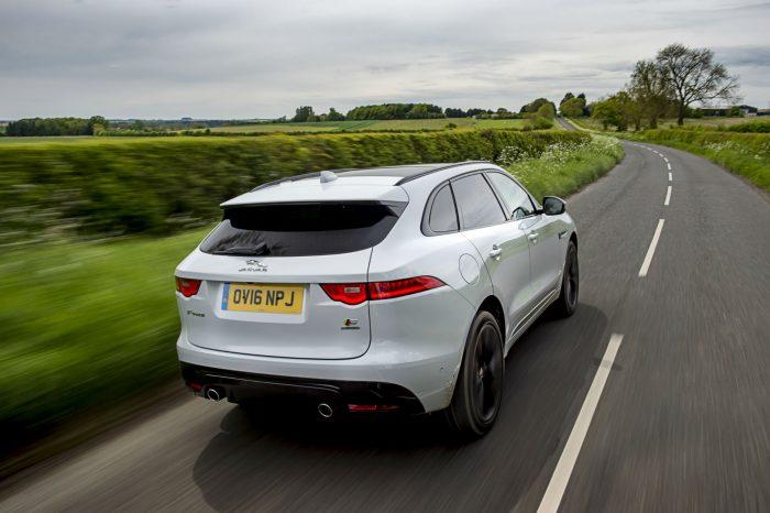 2016 Jaguar F-Pace S Diesel Review - Driving Shot Rear - carwitter