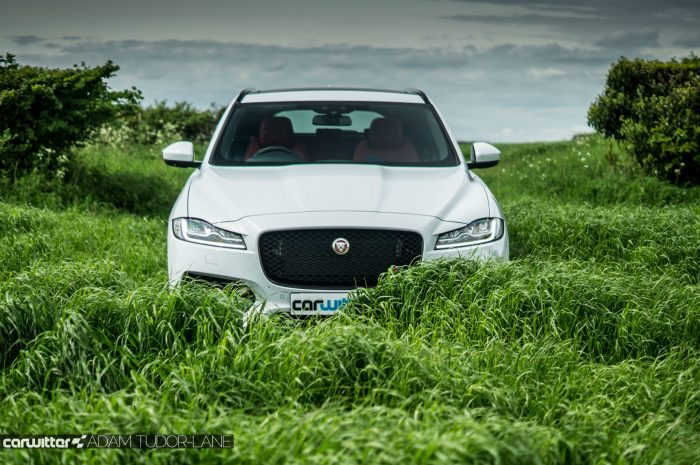 2016 Jaguar F-Pace S Diesel Review - Front Grass - carwitter