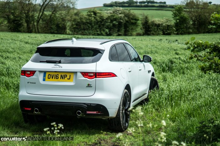 2016 Jaguar F-Pace S Diesel Review - Rear Angle High - carwitter