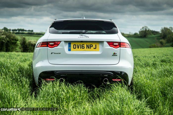 2016 Jaguar F-Pace S Diesel Review - Rear Low - carwitter