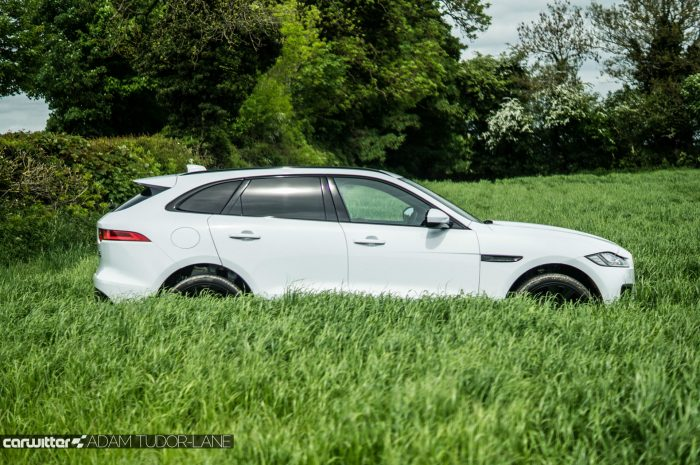 2016 Jaguar F-Pace S Diesel Review - Side - carwitter