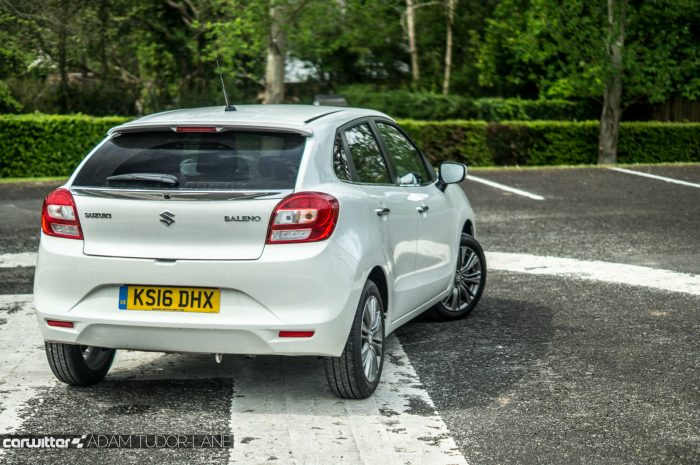 2016 Suzuki Baleno Review - Rear Angle - carwitter