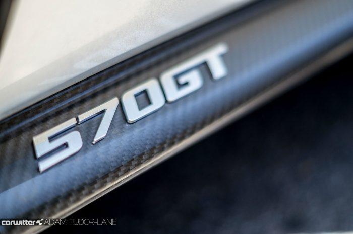McLaren 570GT Review - 570GT Door Badge - carwitter