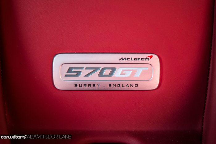McLaren 570GT Review - Dashboard Badge - carwitter