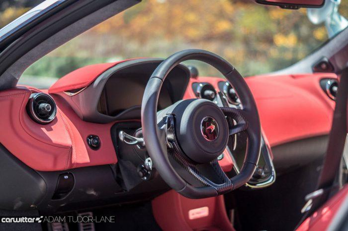McLaren 570GT Review - Dashboard Interior - carwitter