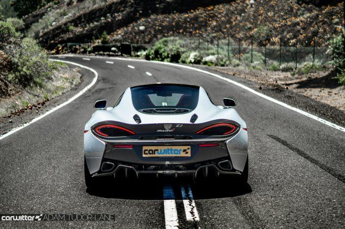 McLaren 570GT Review - Rear Scene - carwitter